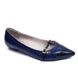 Boden Navy Blue Black Wingtip Flats Size 39